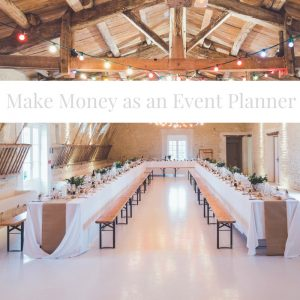 how to make money as an event planner