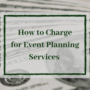 charge for event planning services