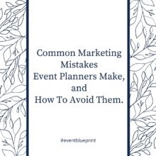 How to be an event planner