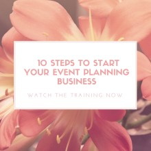 Event planner business plan