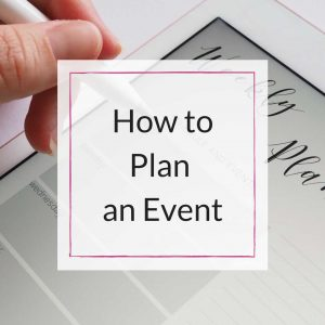 plan an event