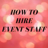 hire event staff