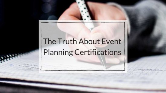 event planning certification